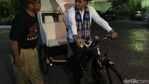 Foto: Becak Lokal Rasa Jerman yang Dijajal Anies di Balai Kota