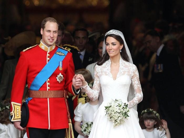 Pangeran William dan Kate Middelton di hari pernikahan mereka 29 April 2011 silam. (Foto: Getty Images)