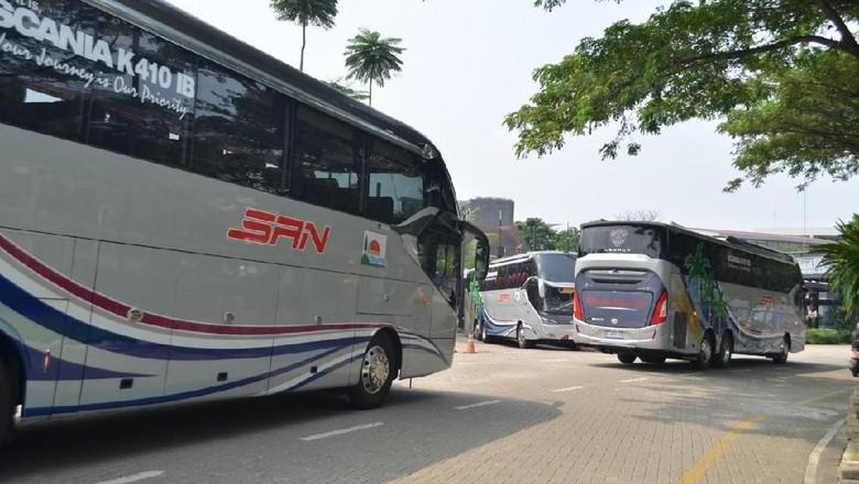 Bus Premium untuk Kelas Ekonomi dari PO. Siliwangi Antar Nusa (SAN)