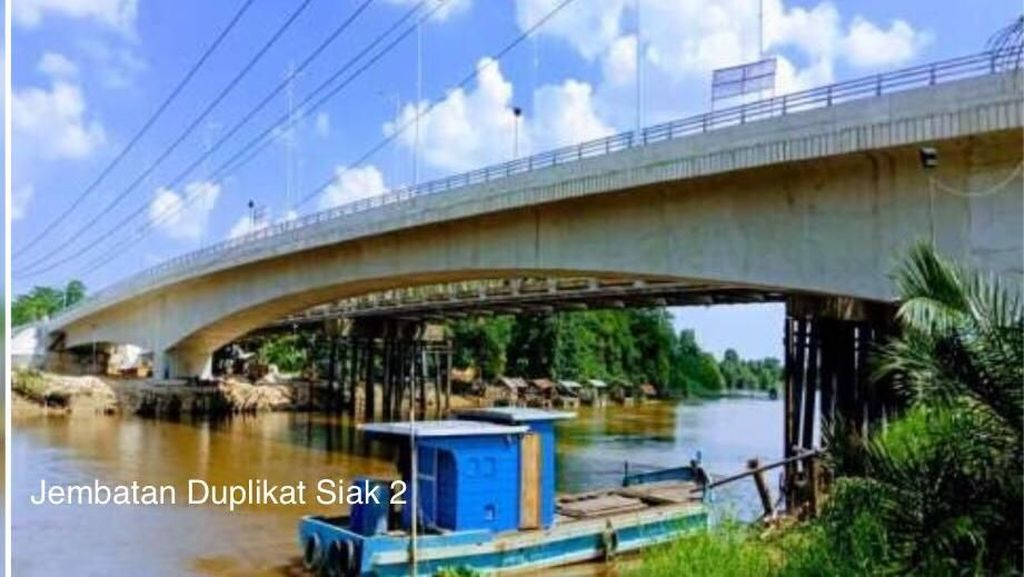 Jembatan Duplikat Siak 2 di Riau Bakal Rampung Bulan Depan
