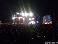 Suasana acara Mata Najwa on Stage yang berlangsung di Benteng Vastenburg, Solo, Sabtu malam (12/5/2018).