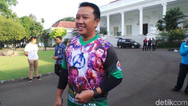 Menpora Imam Nahrawi di Istana Bogor, Sabtu (12/5/2018)