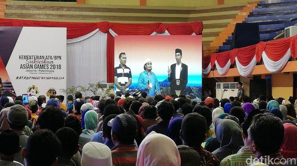 Jokowi: Kalau Sertifikat Tanah Digadai, Uangnya Buat Modal Usaha