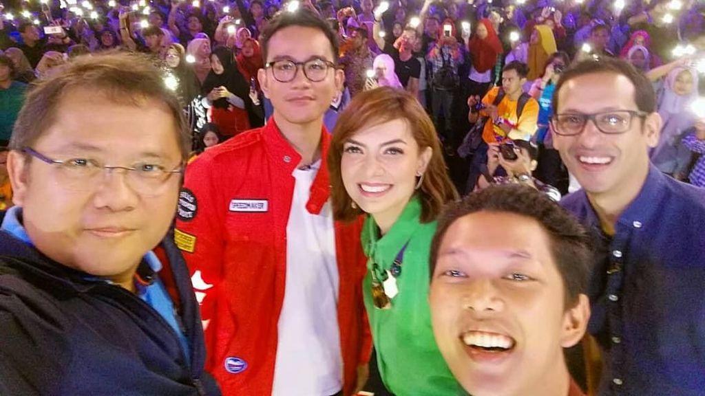 Gibran dan Bos Go-Jek Bikin Kejutan di Mata Najwa on Stage
