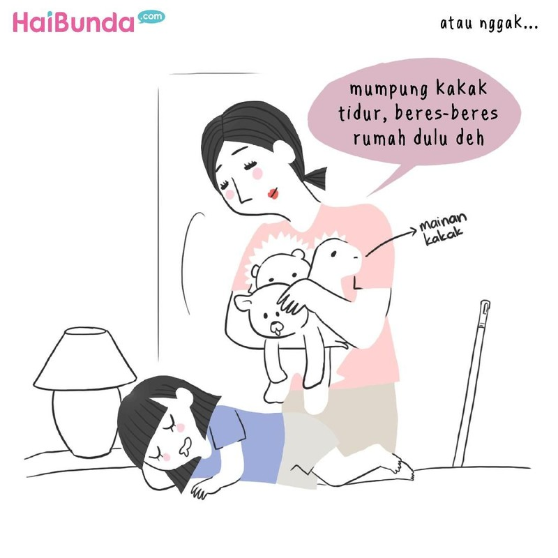 Setelah jadi ibu, perubahan ketika tidur dialami bunda di komik ini. Bunda juga mengalami perubahan itu? Kayak apa, Bun? Yuk berbagi ceritanya.