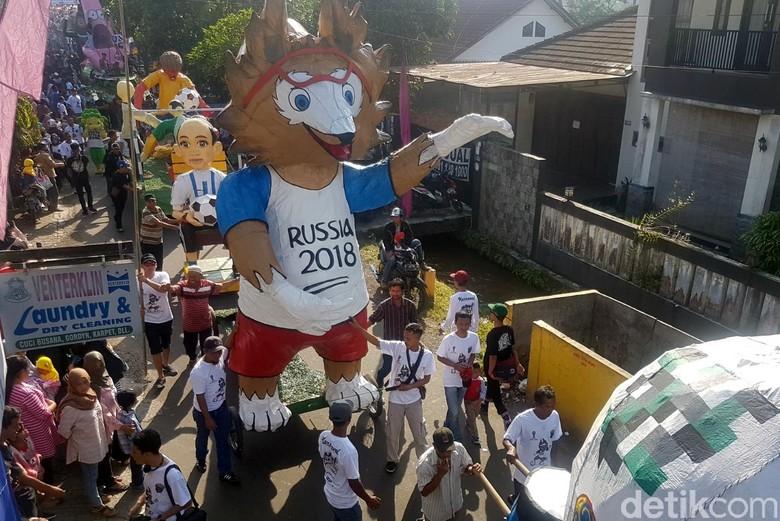 Meriahnya Kampung Piala Dunia di Kadudampit Sukabumi