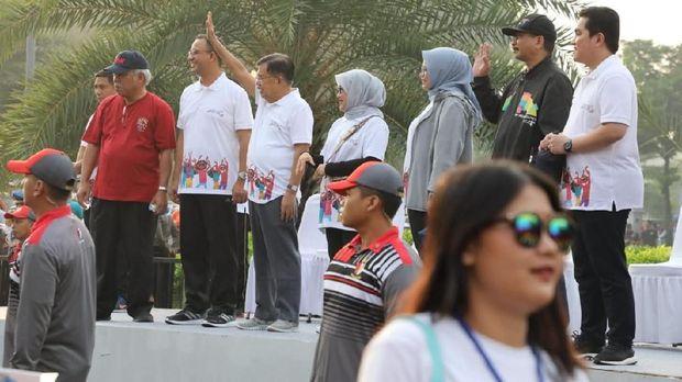 JK Buka Parade 100 Hari Menuju Asian Games 2018 di Monas