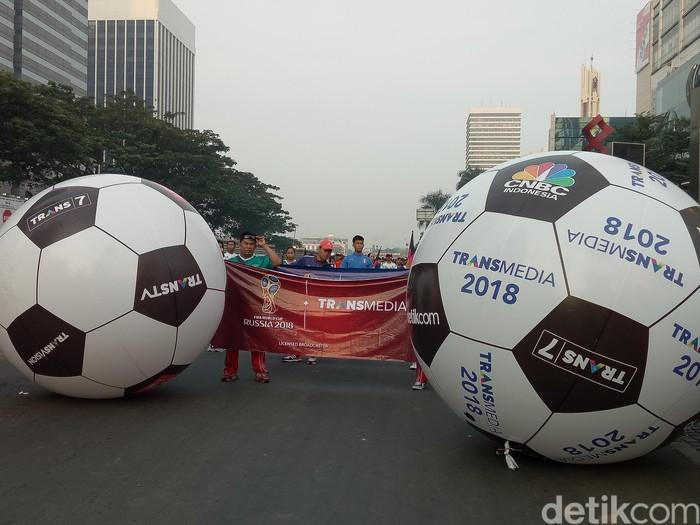 Kemeriahan jelang Piala Dunia 2018. Foto: Amalia Dwi Septi/detikcom