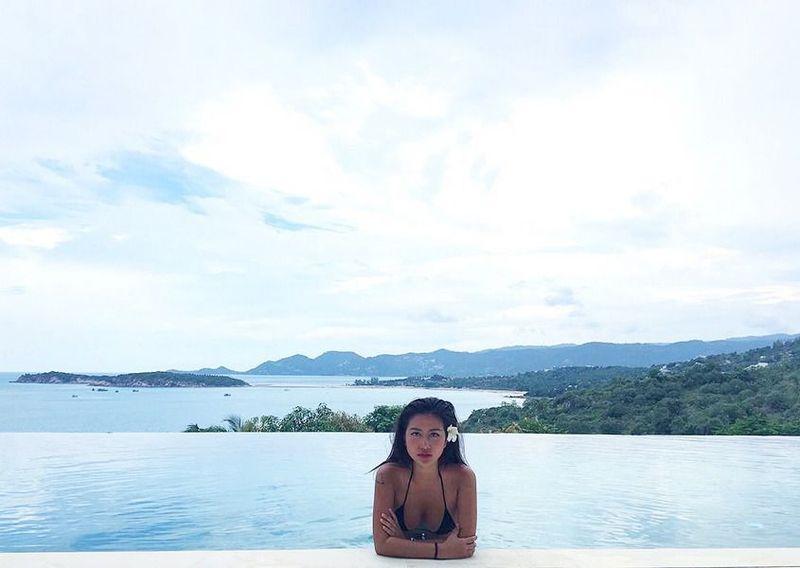 Setelah dari Bali, gadis bernama asli Lin Ryou-Jin ini liburan ke Koh Samui di Thailand. (Instagram/Carina Linn)