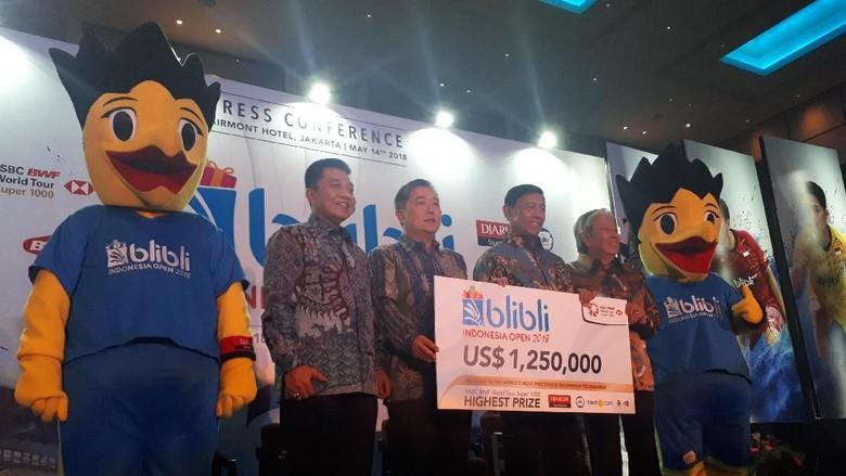 Indonesia Terbuka 2018: Tawarkan Hadiah Besar untuk Pemain, Manjakan Penonton