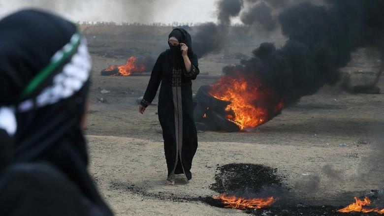 37 Warga Palestina 'Dibantai' Jelang Kedubes AS Dibuka di Yerusalem