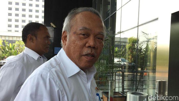 Foto: Menteri PUPR Basuki Hadimuljono di KPK (Nurin-detik)
