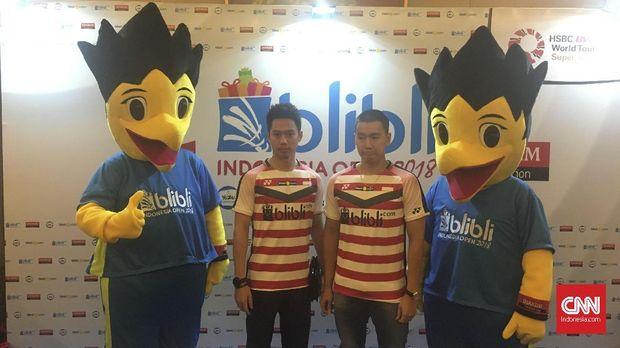Kevin/Marcus meraih gelar juara Indonesia Terbuka 2018.