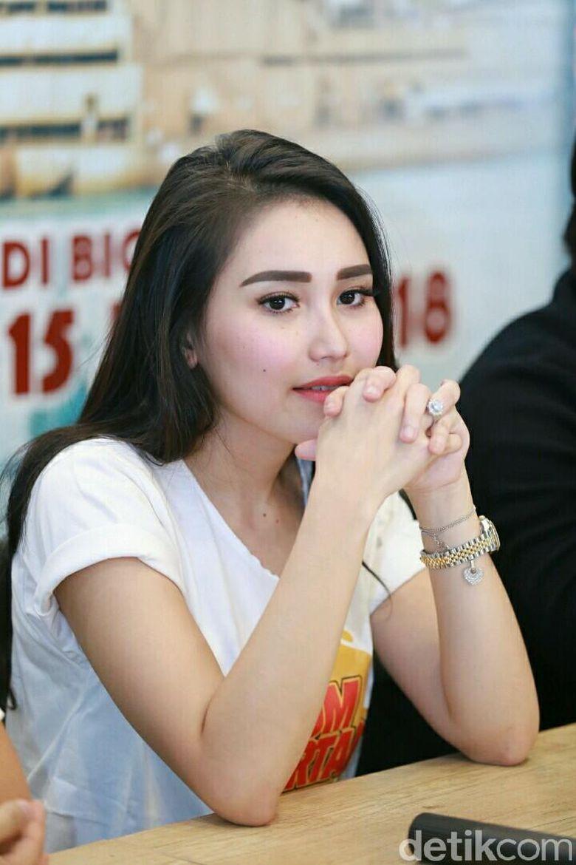 Ayu Ting Ting saat ditemui di promo film terbarunya Dimsum Martabak. Foto: Ismail/detikHOT
