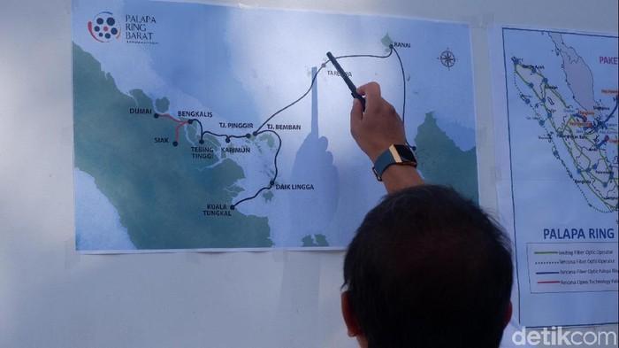 Palapa Ring paket barat. Foto: detikINET/Adi Fida Rahman