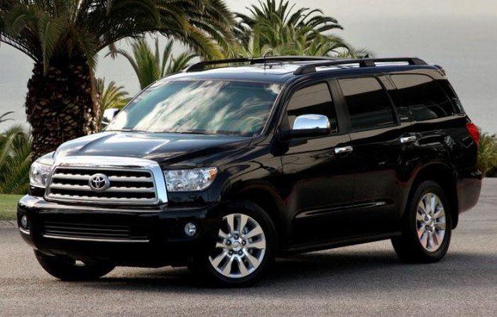 SUV Toyota Sequoia ini dibeli seharga 30.000 poundsterling. Istimewa/Dailymail.