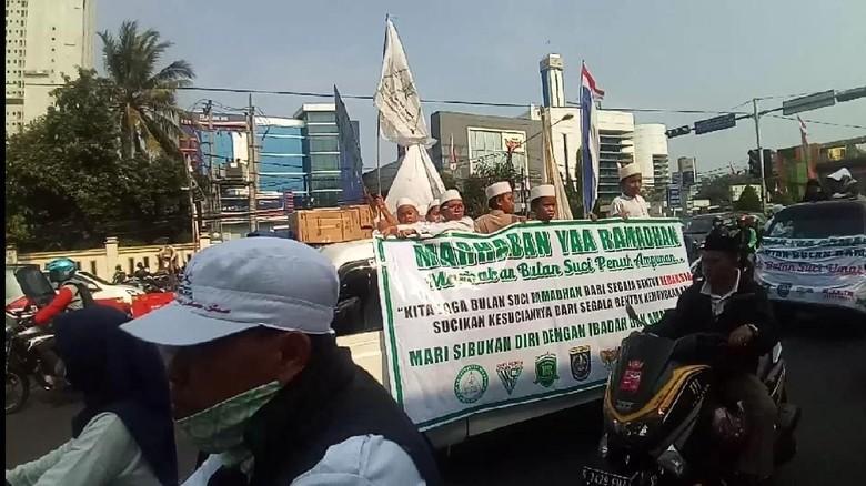 FPI Pawai Sambut Ramadan di Depok, Lalin Sempat Tersendat