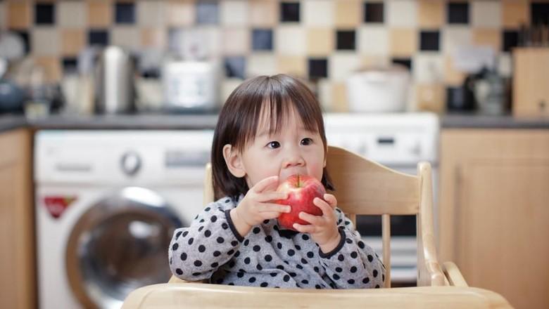 Ilustrasi anak makan buah/ Foto: Shutterstock