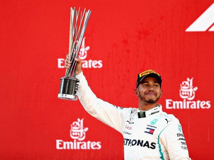Lewis Hamilton menangi GP Spanyol 2018 (Mark Thompson/Getty Images)