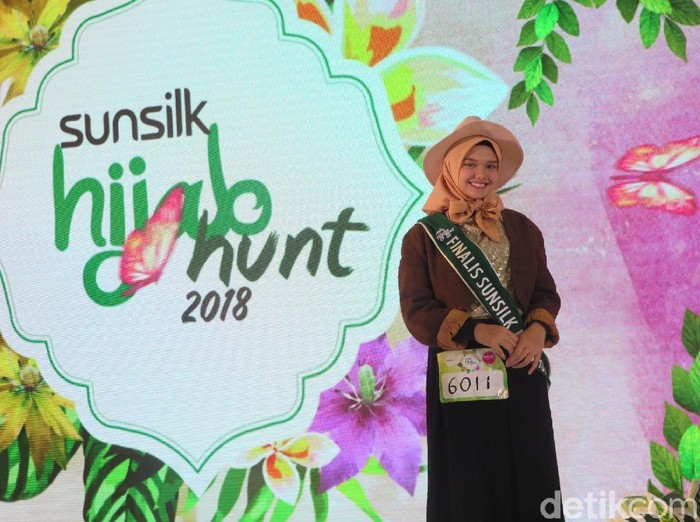 Sabine Fatimah finalis Sunsilk Hijab Hunt 2018. Foto: Hestianingsih/Wolipop