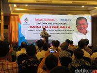 Wapres Jusuf Kalla menyampaikan pidato