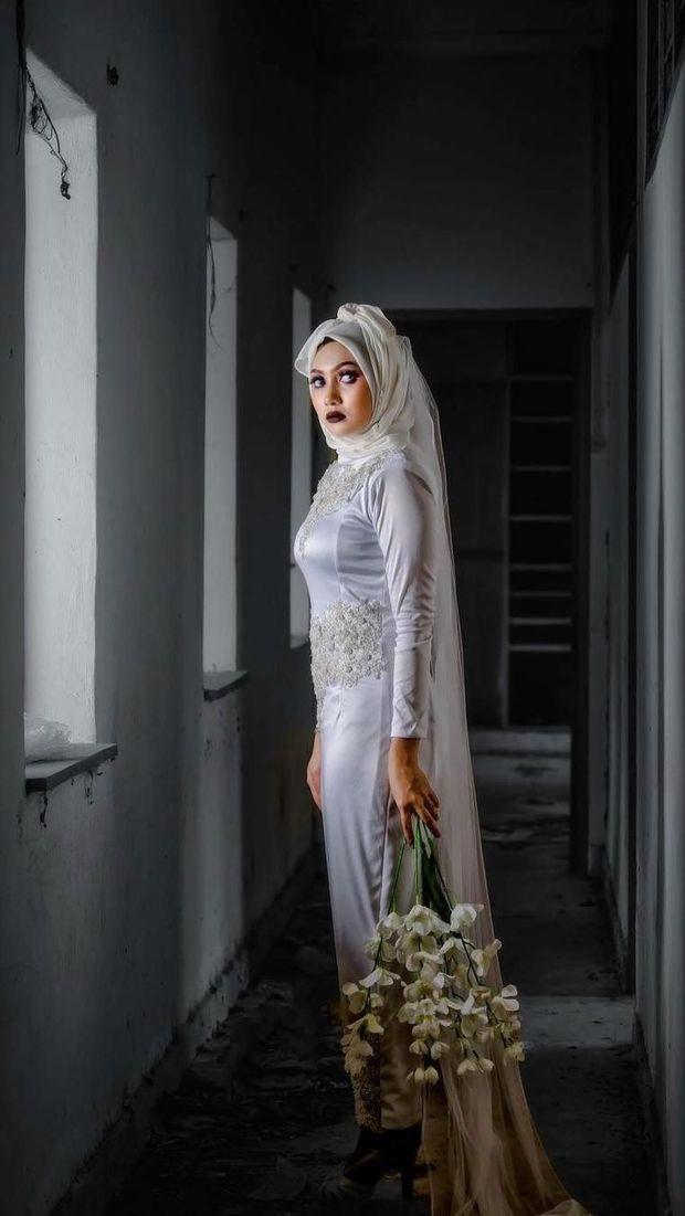 Setelah Hijab Pocong Jadi Viral, Kini Ada Hijab Pengantin Seram
