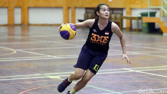 Ranie Palma berlatih di Timnas basket 3x3 putri. (Grandyos Zafna/detikSport)