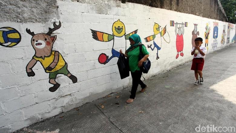 Mural Asian Games 2018 Percantik Kawasan Jati Padang