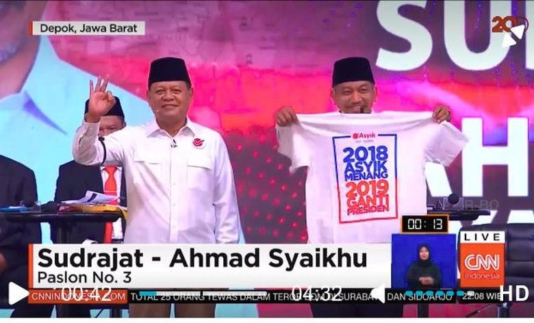 Insiden 2019 Ganti Presiden di Panggung Debat Cagub Jabar