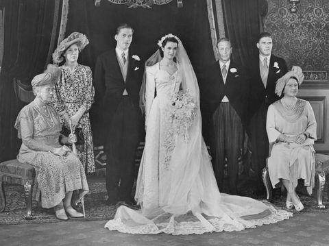 Potret jadul pernikahan keluarga Kerajaan Inggris.