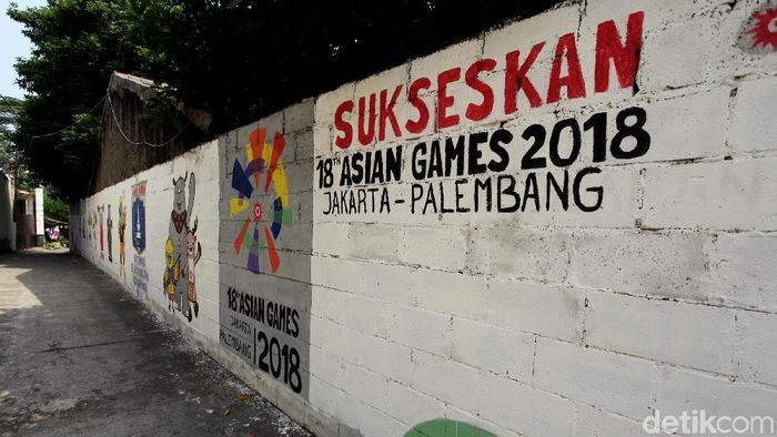Mural Asian Games 2018 (Lamhot Aritonang/detikSport)