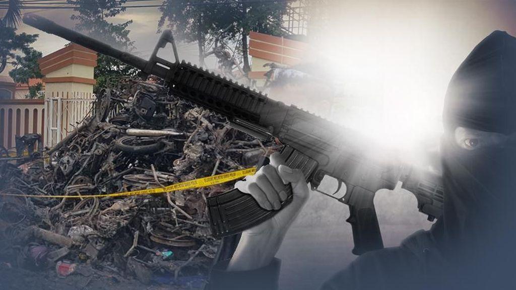 Densus Sita Aneka Senjata Api di Kontrakan Terduga Teroris Bandung