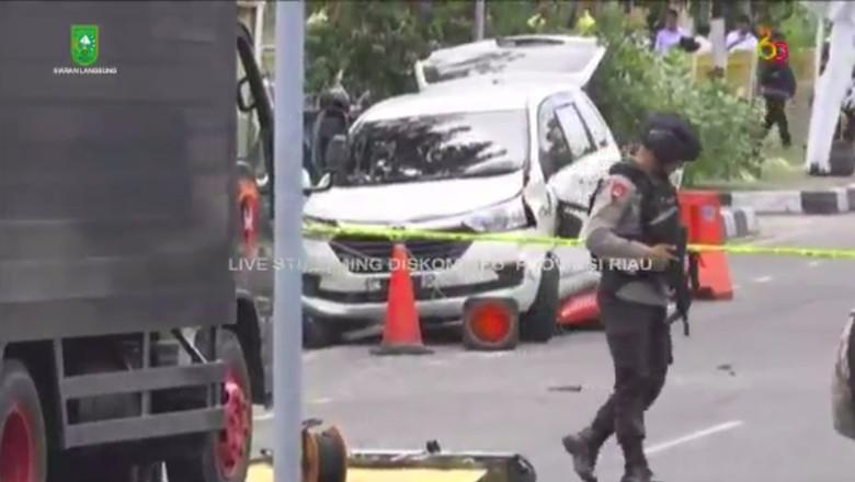Rangkaian Kabel yang Dililitkan di Tubuh Teroris Riau Kamuflase