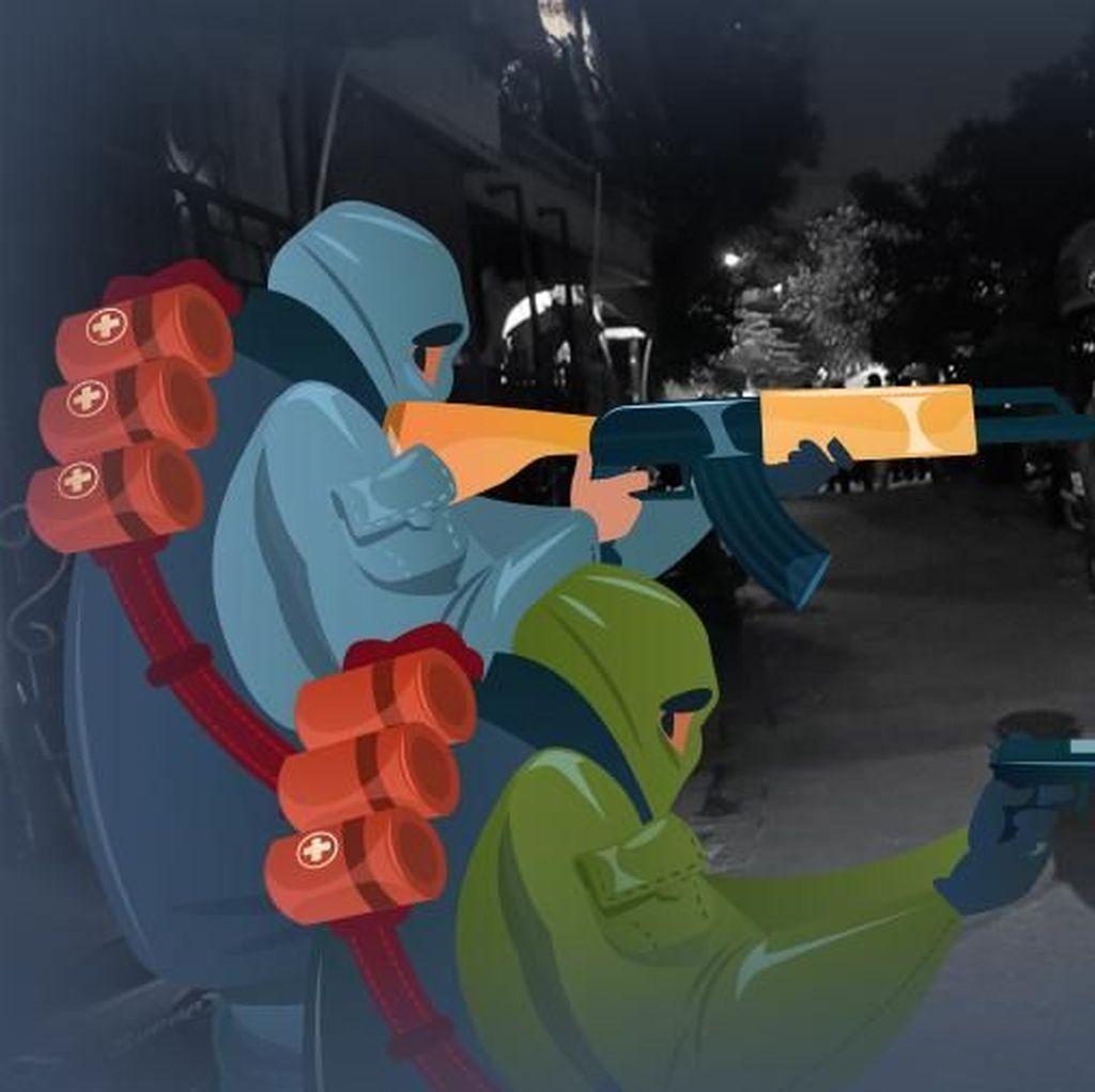 Sempat Baku Tembak dengan Polisi, 9 Teroris di Mesir Tewas