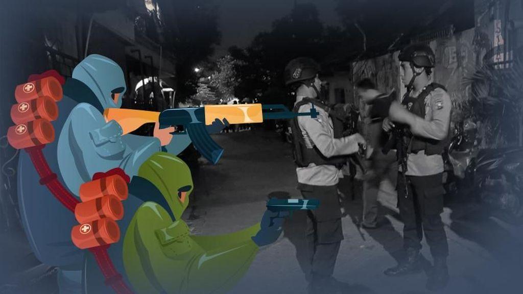 Baku Tembak dengan Polisi Mesir, 9 Terduga Teroris Tewas