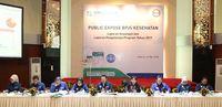 Saat Menyampaikan paparan di Public Expose Laporan Keuangan dan Laporan Pengelolaan Program BPJS Kesehatan Tahun 2017 / dok. BPJS Kesehatan