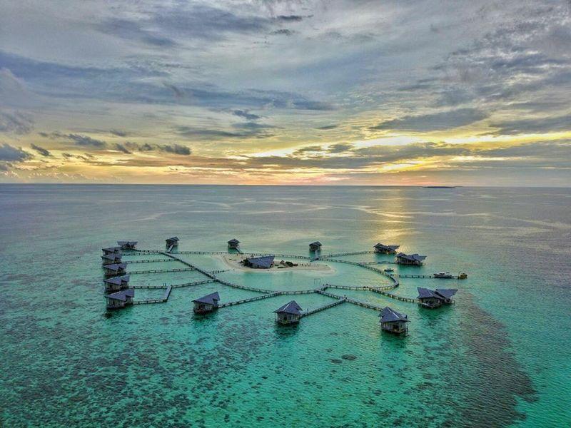 Inilah Pulo Cinta, salah satu destinasi wisata cantik yang ada di Gorontalo (Pulo Cinta Eco Resort/Facebook)