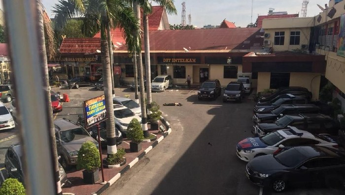 Foto: Polda Riau diserang terduga teroris (dok. istimewa)