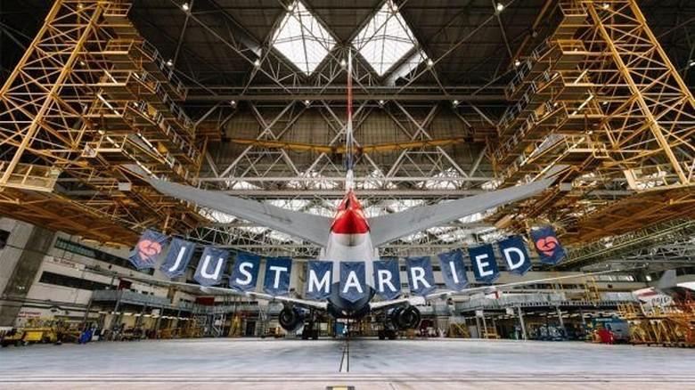 Foto: Penerbangan spesial Royal Wedding ala British Airways (British Airways)
