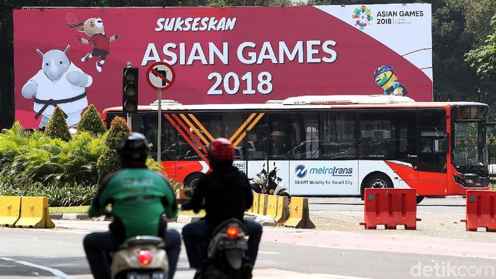 Promosi Asian Games 2018 di jalan protokol ibukota (Rengga Sancaya/detikSport)