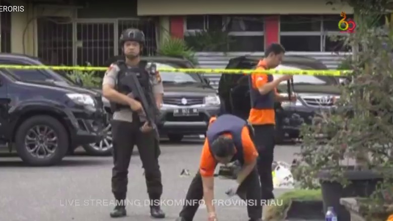 4 Teroris Penyerang Mapolda Riau Diidentifikasi Inafis