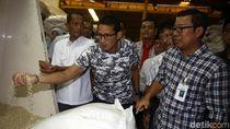 Sandiaga Uno Cek Stok Beras Jelang Ramadan