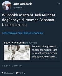 Ngetwit JKT48, Admin Twitter Jokowi Dipecat