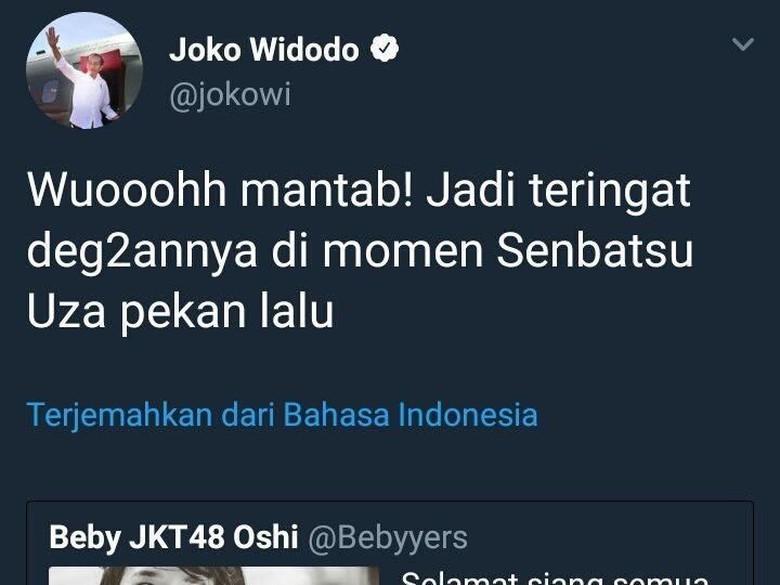 Apa Itu Senbatsu Uza JKT48 yang Dikicaukan Akun Jokowi?