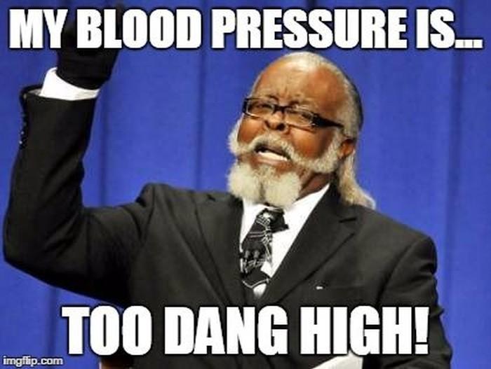 Mungkin ini reaksi banyak orang begitu tahu dirinya hipertensi. (Foto: Internet)