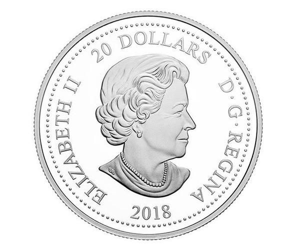 Sisi pertama koin 20 dollar itu bergambar Pangeran Harry dan Meghan Markle, sedangkan sisi lainnya adalah Ratu Elizabeth II (Royal Canadian Mint)