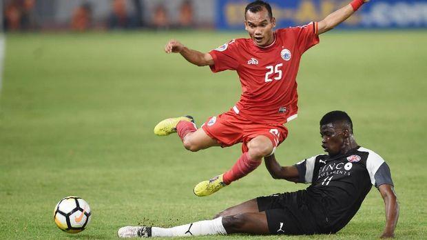 Persija kalah 2-3 dari Home United pada leg kedua di SUGBK. (
