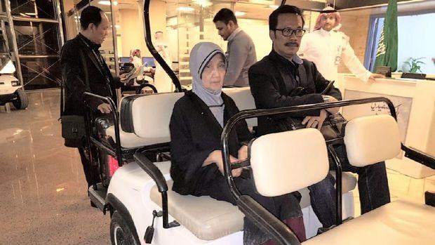 Qibtiyah bersama Dubes RI Riyadh Agus Maftuh Abegebriel