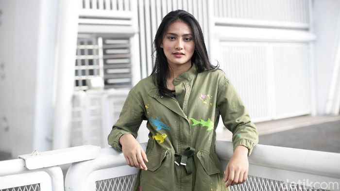 Rabie Palma juga tengah kuliah di jurusan desain interior Universitas Trisakti.   (Grandyos Zafna/detikSport)