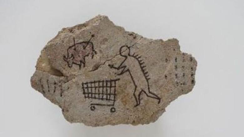 Lukisan Gua Palsu yang Dicap Karya Banksy Kembali Dipamerkan ke Publik